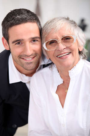 Grandmother with son photo