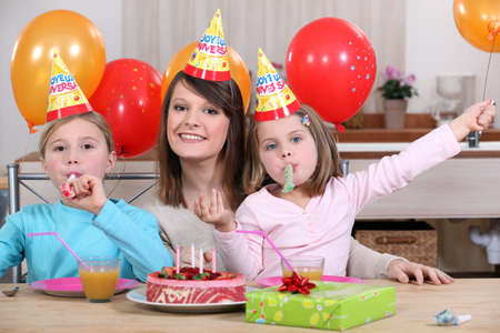 childs birthday party: Childs birthday party Stock Photo