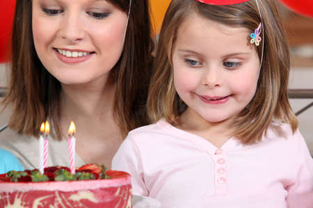 and four of the year: Young girl on her 4th birthday