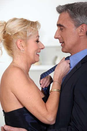 flirting: Flirting couple Stock Photo