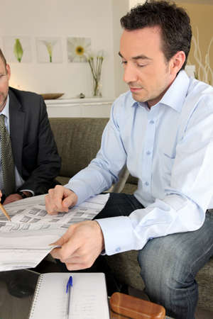 architect with client indoors Stock Photo - 13974359