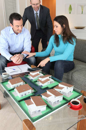 urban planning: Couple in an architects office