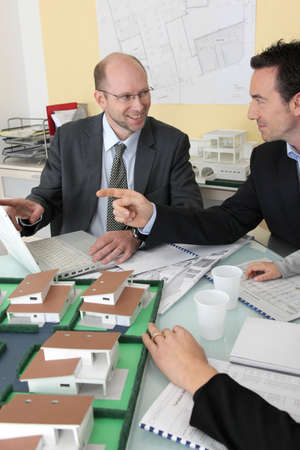 promoter: People in an architects office Stock Photo