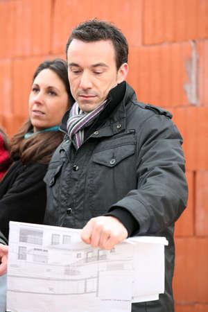 Clients visiting building site photo