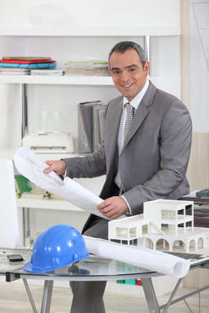 Architect in his office Stock Photo - 13962322