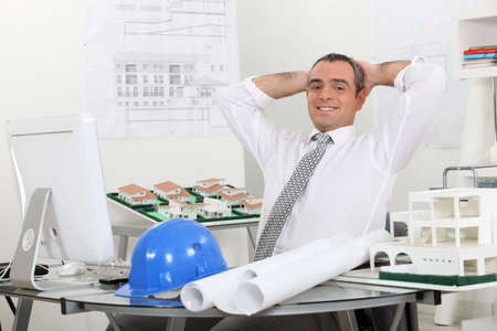 Structural engineer in office photo