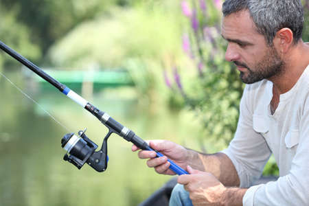 Man fishing. photo