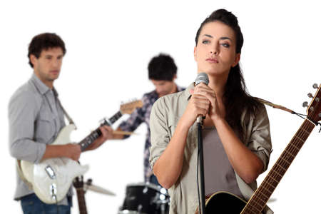 Group of young musicians Stock Photo - 13936750