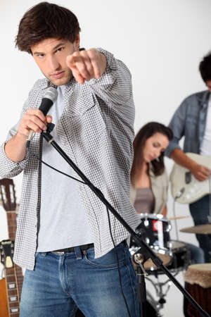 vocalist: Rock group Stock Photo