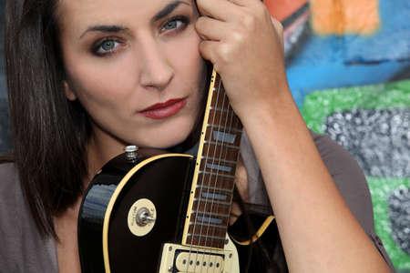 Female guitarist photo