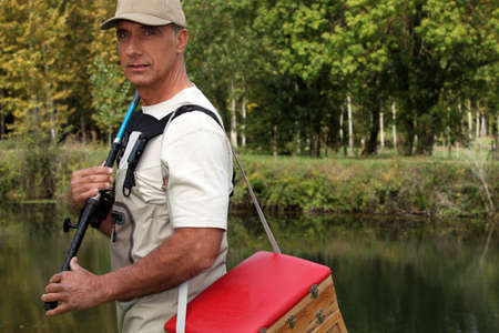 Man with his fishing gear photo
