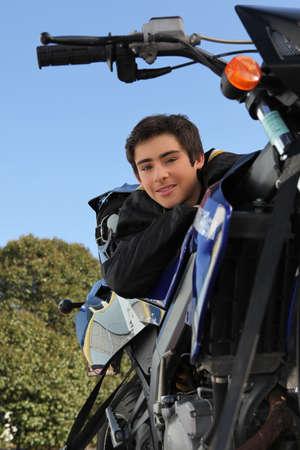 Boy on a motorbike Stock Photo - 13939867