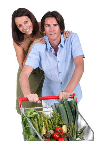 accomplices: couple food shopping