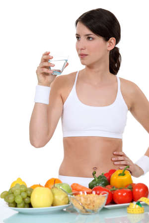 A healthy woman. photo