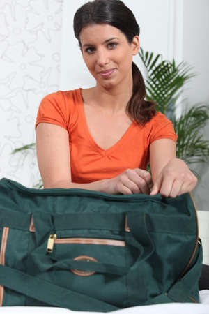 Woman with bag photo