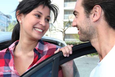 Couple smiling photo