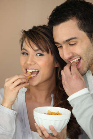 chomp: Couple eating cereal