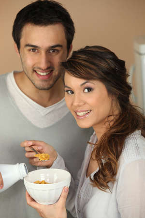 sugarcoated: couple having breakfast together