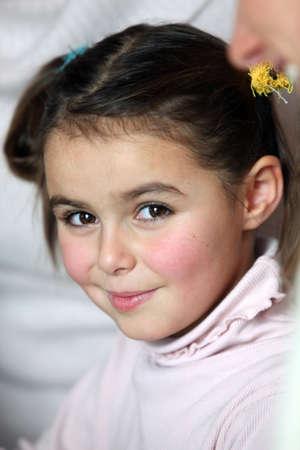 brown eyes: Retrato de ni?a
