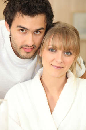 bedhead: portrait of couple at home