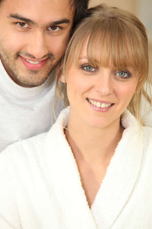Portrait of couple in the morning Stock Photo - 13988104