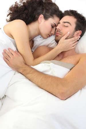 romance bed: Peaceful couple