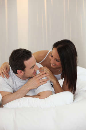 spouses: Husband and wife in a moment of tenderness
