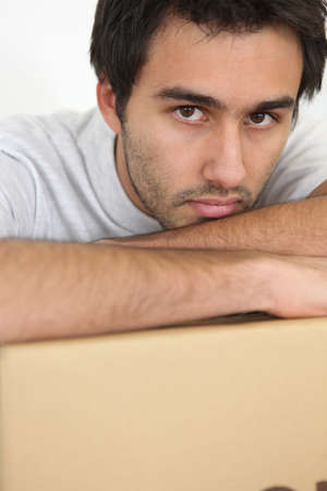 Portrait of man disappointed photo