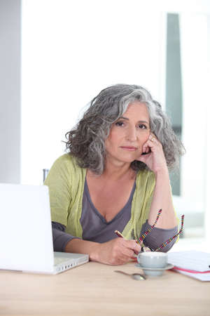 sideburns: Worried woman Stock Photo