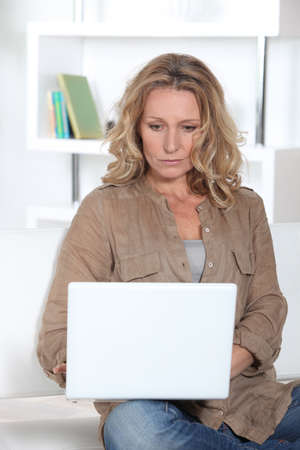Woman with computer Stock Photo - 14012045