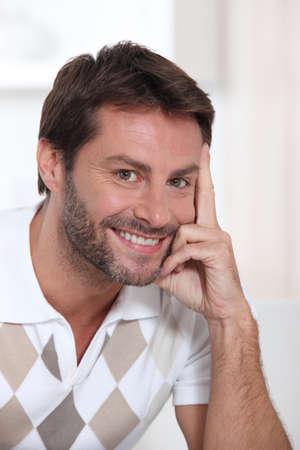 Retrato de hombre sonriente Foto de archivo - 14004330