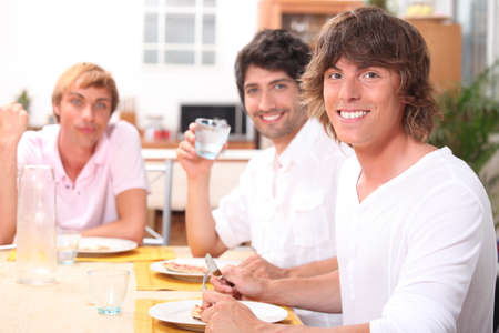 conviviality: Lunch with friends Stock Photo