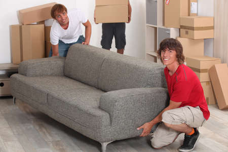 Men moving into new house photo