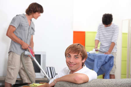 Guys cleaning Stock Photo - 13957844