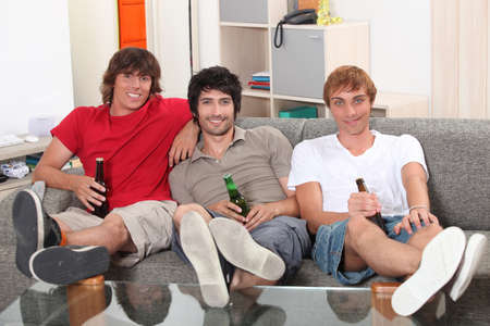 young with beers photo