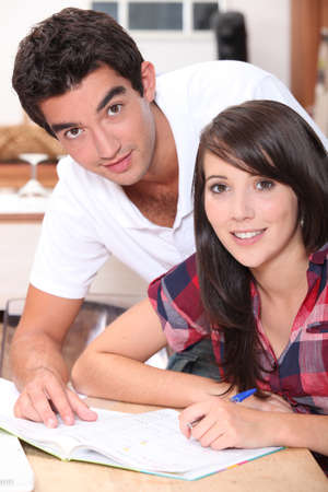 classwork: Teens doing homework