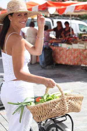 Woman at the market photo