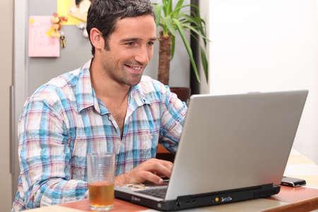 Computer at home photo