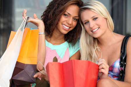 spoiled: girls after shopping frenzy
