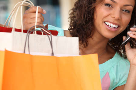 young woman shopping Stock Photo - 14004314