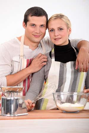 Couple baking photo
