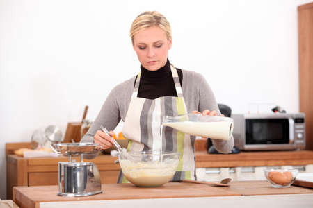 pileup: Woman in the kitchen