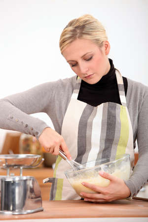 woman cooking photo