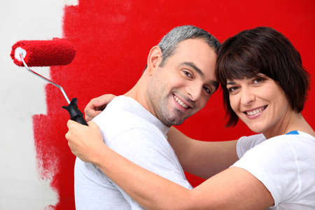 couple of diy painting it red photo