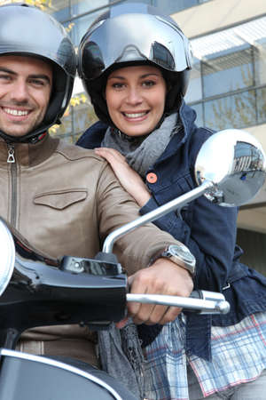 predilection: Couple on motorcycle