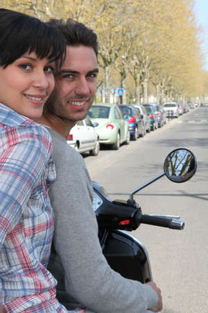 couple on a motorcycle Stock Photo - 13977734