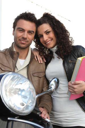 book jacket: Couple with motorbike