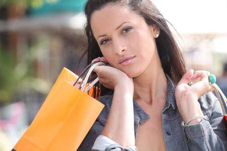 young woman shopping Stock Photo - 14023440