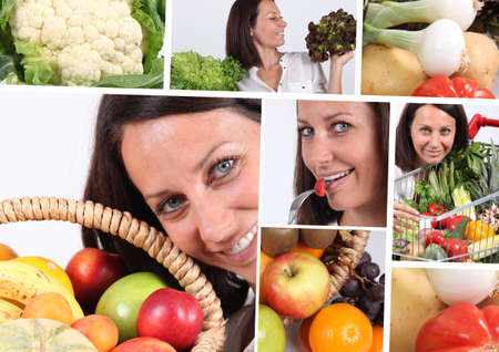 Healthy eating montage photo