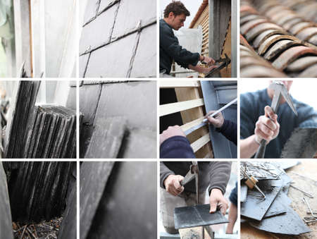 Roofing mosaic Stock Photo - 14023369